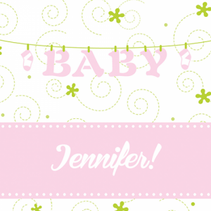Baby Shower Custom Label