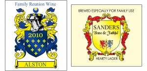 Personalized Family Crest Labels