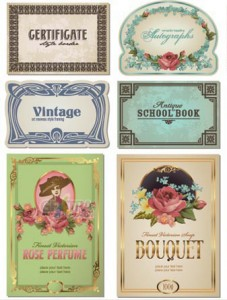 vintage label designs from www.gfextra.com
