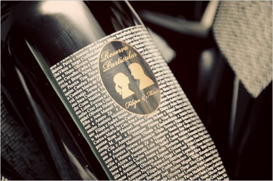 custom wedding wine label idea