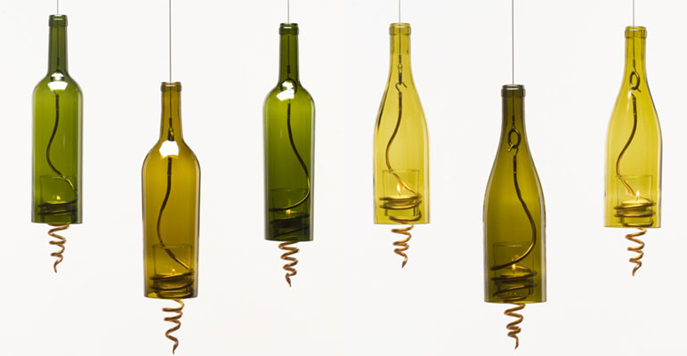 Green Wine Bottles.com Lamps
