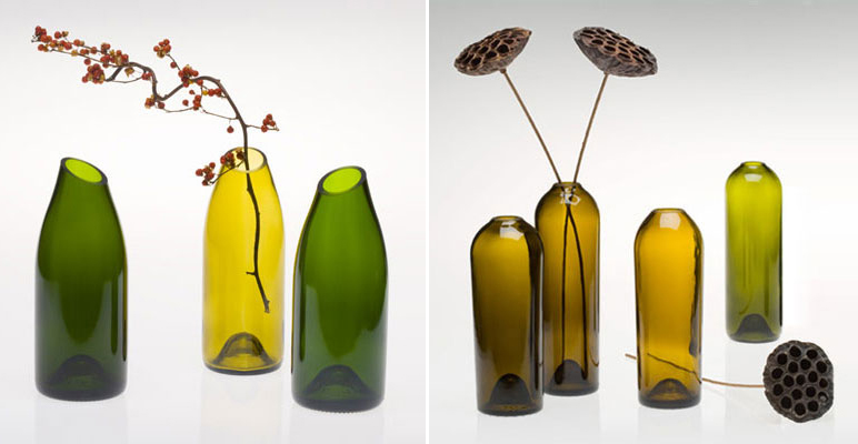 GreenWineBottles.com, Vases, recycled wine bottles, reused wine bottles, repurposed wine bottles