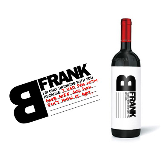 B Frank Wine Label