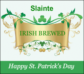 Custom Beer Label from Bottle Your Brand, St Patricks Day