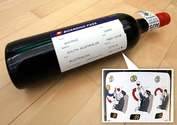 Unique Wine Label, Boarding Pass Wine Label, from R Wines