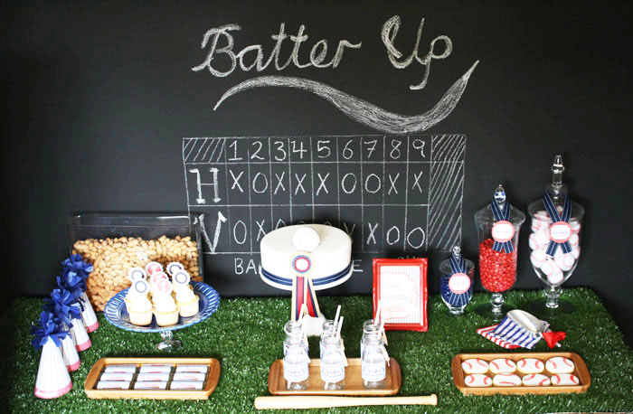 Baseball Party Dessert Table, from Mon Tresor, Amy Atlas