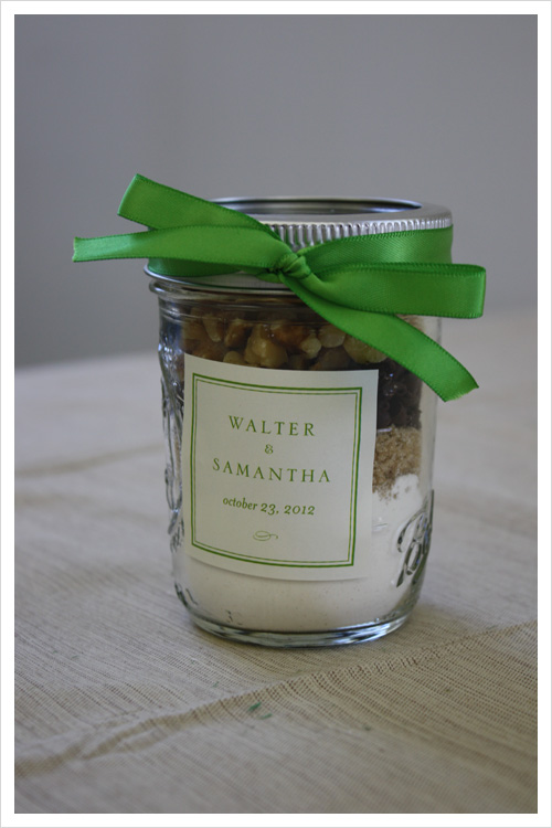 Homemade Food Favors with Custom Labels