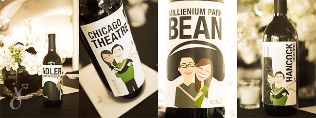 Custom Chicago Wedding Labels by Alicia Potter, photos by Jennifer Eileen