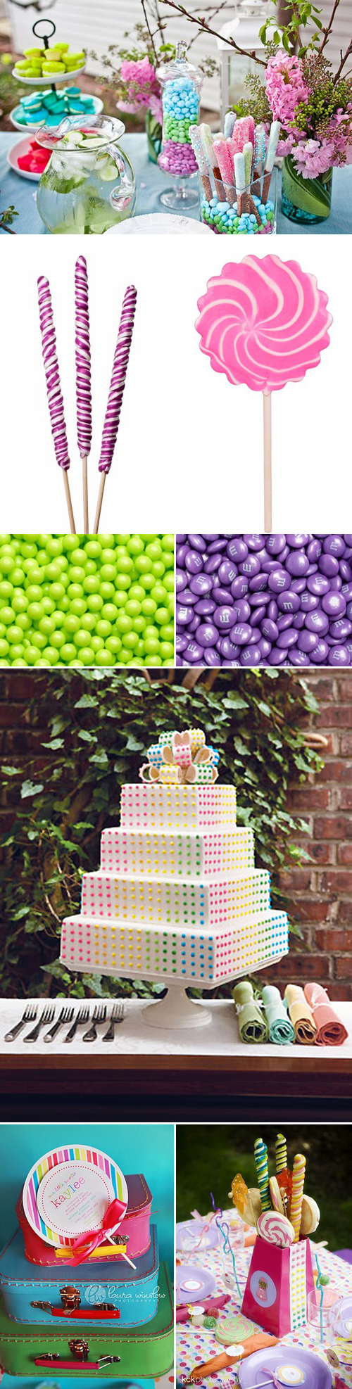 Sweet Candy Party Inspiration Board Ideas