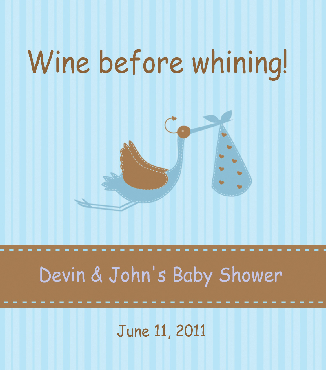 Custom Wine Label for Baby Shower, from Bottle Your Brand
