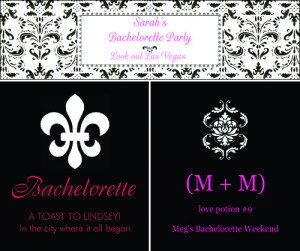 Custom Bachelorette Party Wine and Water Bottle Labels from Bottle Your Brand