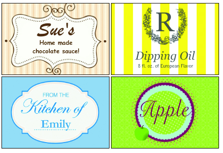 Homemade Food and Gift Labels from Bottle Your Brand
