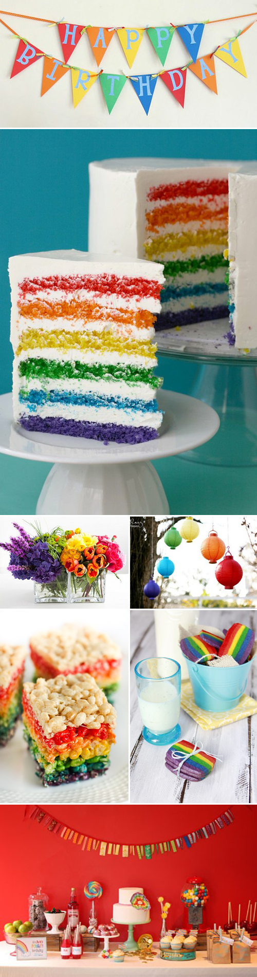 Rainbow Party Inspiration Board