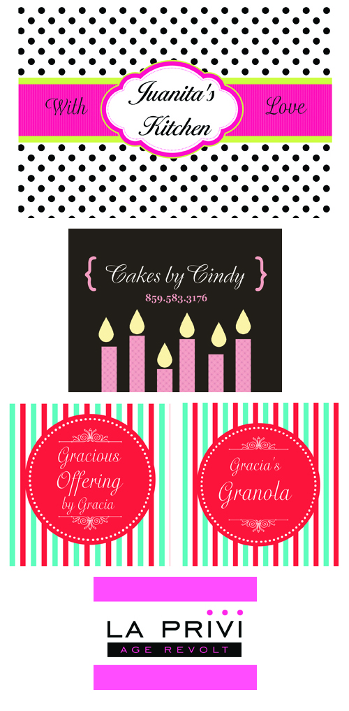 Custom Labels for Homemade Goodies, Treats and Projects, from Bottle Your Brand