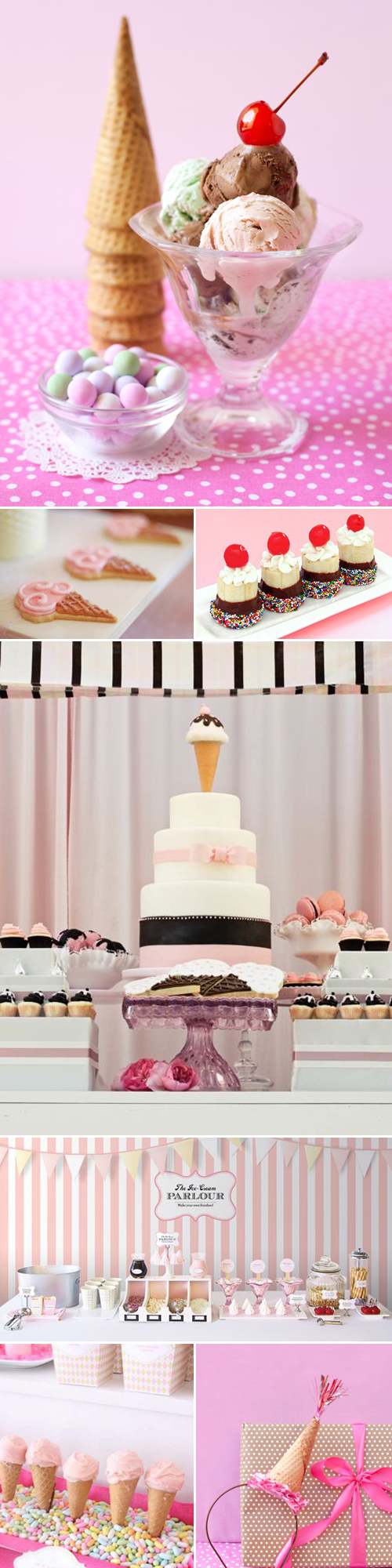 Ice Cream Social Party Inspiration Board