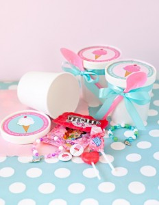 Ice Cream Social Birthday Party Favor Ideas