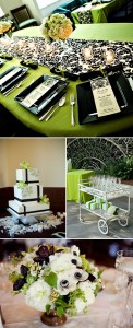 Fresh and Beautiful Wedding Palette: Green and Black