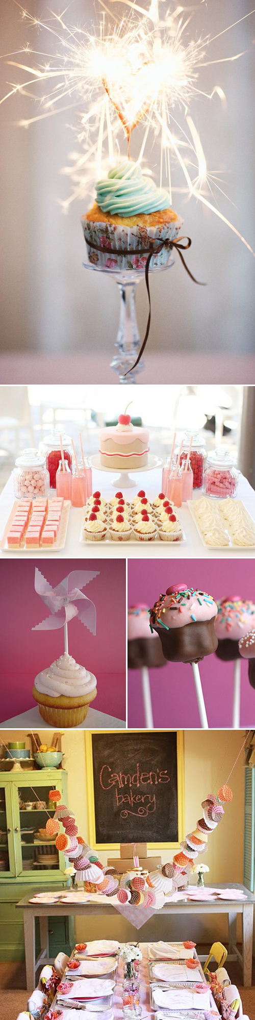 Cupcake Theme Birthday Party Inspiration