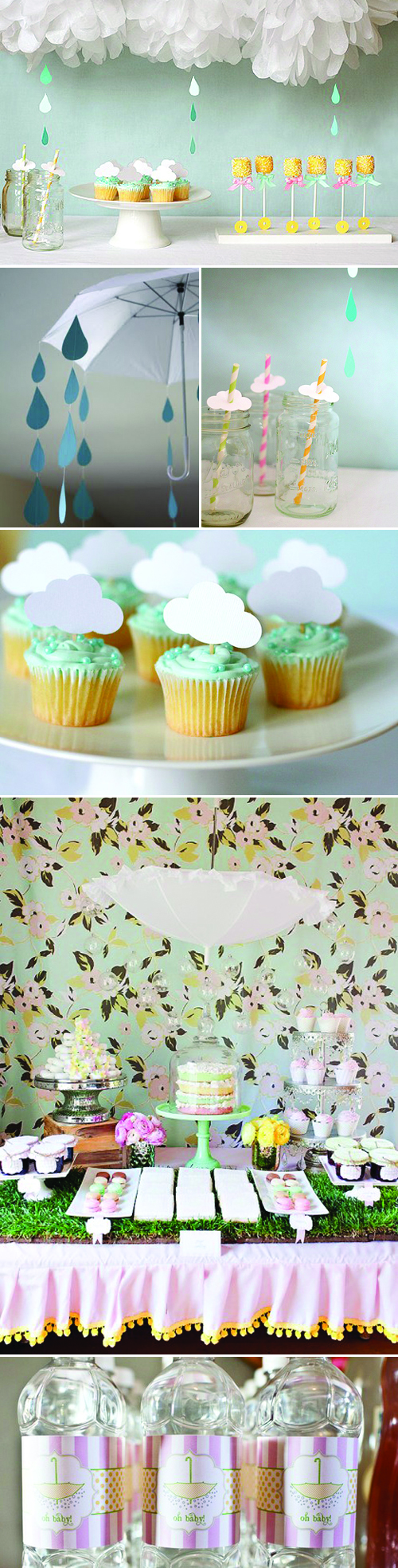 Umbrella Baby Shower Inspiration and Ideas