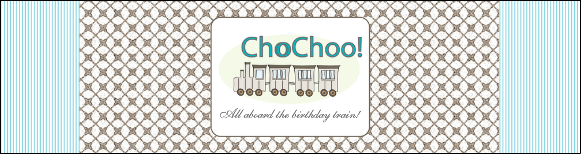 Custom Personalized Kids' Birthday Party Invitation, Train Theme