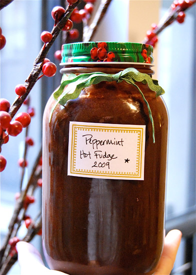 Hot Peppermint Fudge Sauce