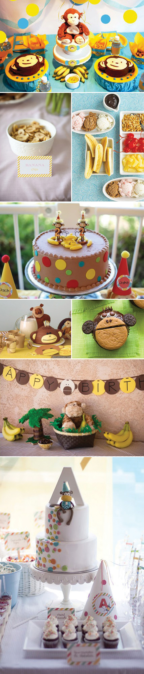Monkey and Banana Birthday Party Inspiration