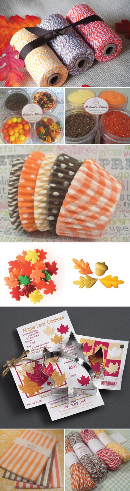 Thanksgiving Baking Supplies from Bakers Bling on Etsy