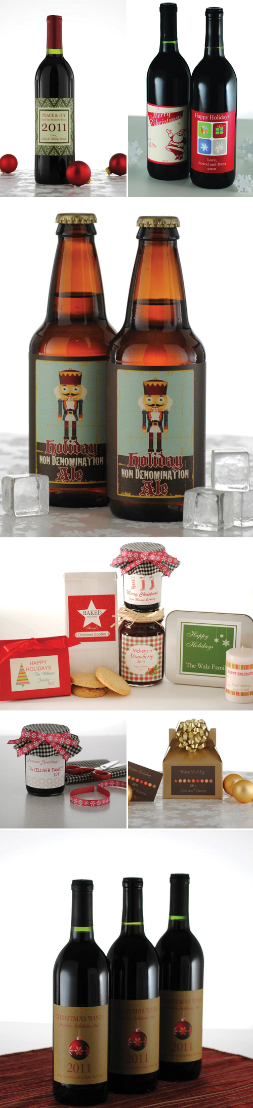 Custom Holiday Labels from Bottle Your Brand