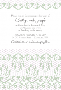 New Custom Label and Invitation Set – For a Romantic Wedding
