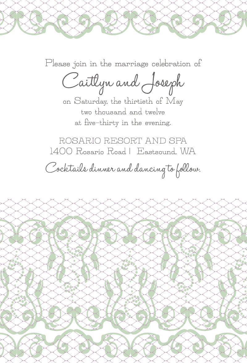 custom lace wedding invitation from bottle your brand