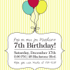 Custom Birthday Party Invitation, Balloons, Kids
