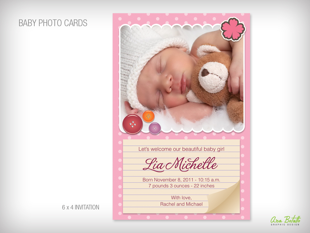 Baby Birth Announcement Photo Card, from Bottle Your Brand