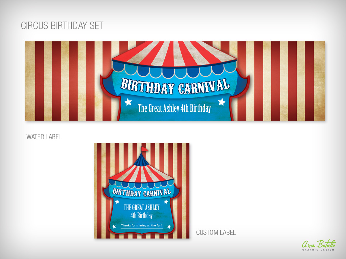 Circus Birthday Party, Kids, from Bottle Your Brand