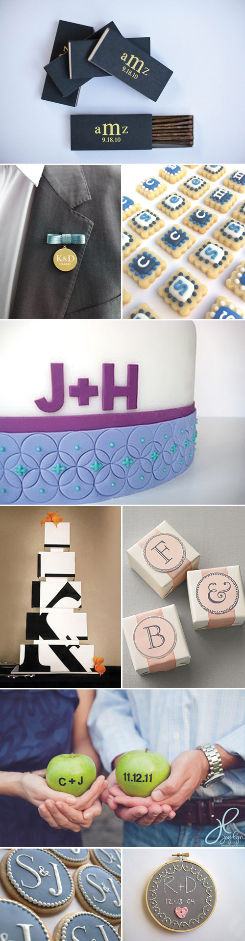 Modern Wedding Monograms and Initials, Wedding Decor and Design