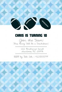 New Custom Football Birthday Label and Invitation Set!