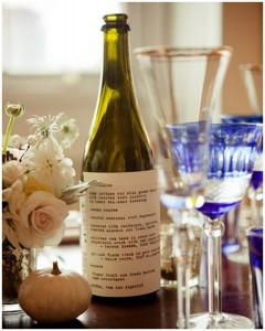 Creative Wedding Wine Label