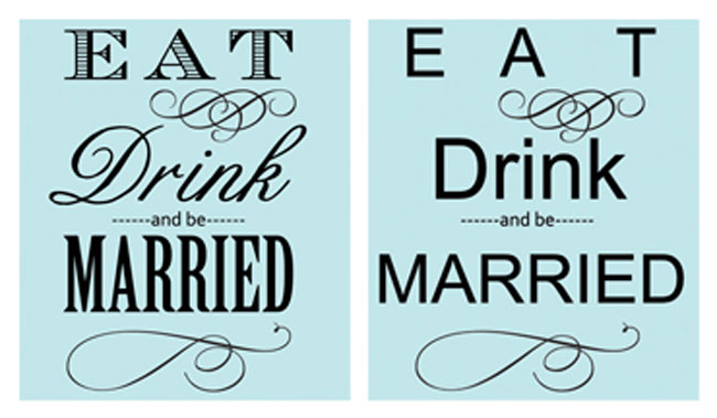 Font Examples on Wine Labels