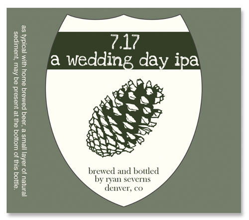 Beer Label Wedding Day IPA Number 15of 20 of our 20 Must See Beer Labels