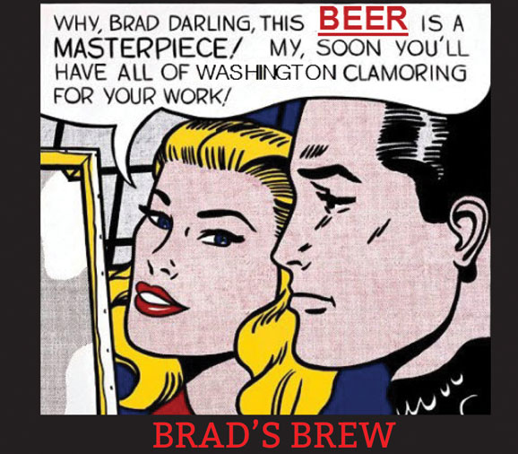A cartoon beer label made the list of our 50 funny beer labels