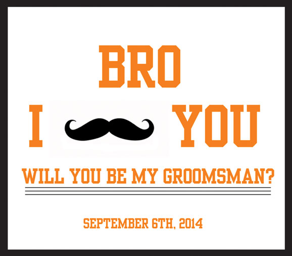 A popular beer label for grooms asking Will You Be My Groomsman?