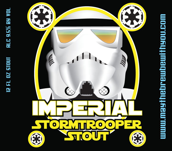 Storm trooper stout beer label