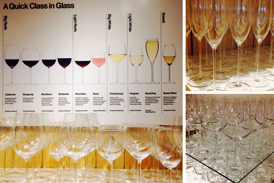 Different kinds of wine glasses for every kind of wine.