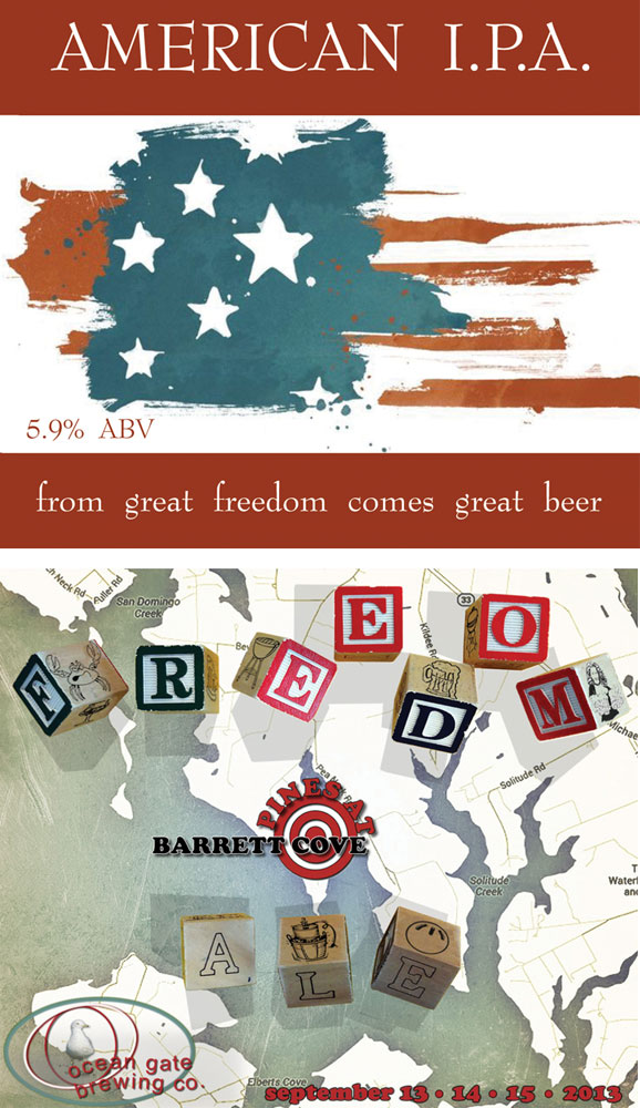 Patriotic theme custom beer labels