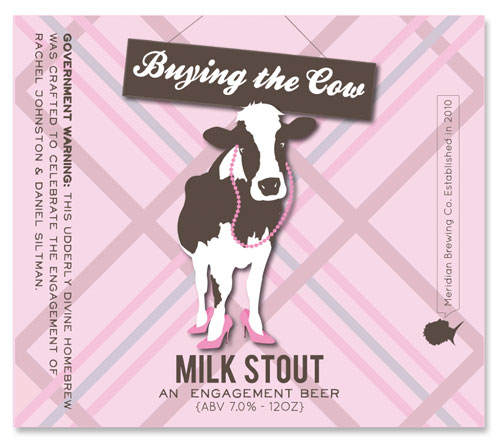 Beer Label Buying the Cow Number 13 of 20 of our 20 Must See Beer Labels