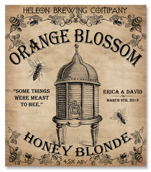 Beer Label Orange Blossom Honey Blonde Number 9 of 20 of our 20 Must See Beer Labels