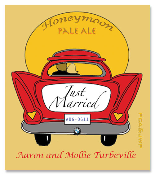 Beer Label Just Married Number 6 of 20 of Our 20 Must See Wedding Beer Labels