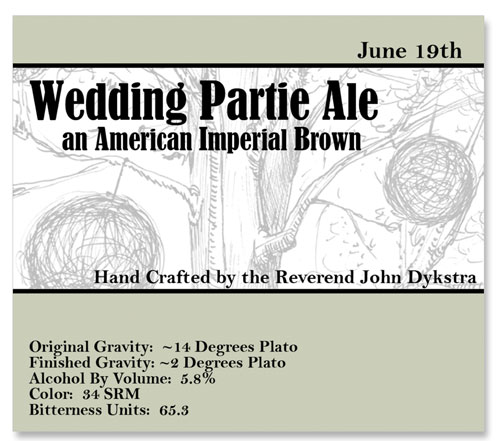 Beer Label Partie Ale Number 3 of 20 of Our 20 Must See Wedding Beer Labels