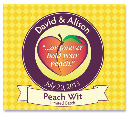 Beer Label Peach Wit Number 2 of 20 of Our 20 Must See Wedding Beer Labels