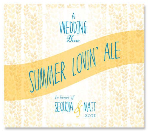 Beer Label Summer Lovin' Ale Number 17 of 20 of Our Must See Wedding Beer Labels