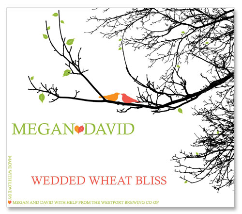 Beer Label Wedded Wheat Bliss Number 18 of 20 of Our Must See Wedding Beer Labels